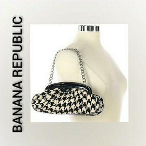 Banana Republic Clutch Shoulder Bag Houndstooth